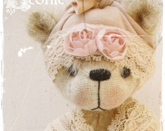 bear pattern Leonie 7.75 inch epattern bear artist bear teddy Instant Download
