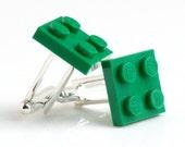 Green Brick Cufflinks Retro Big Boy Fun