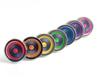 Personalized Vinyl DJ Cuff Links Spin the Record Right Round Baby PC082