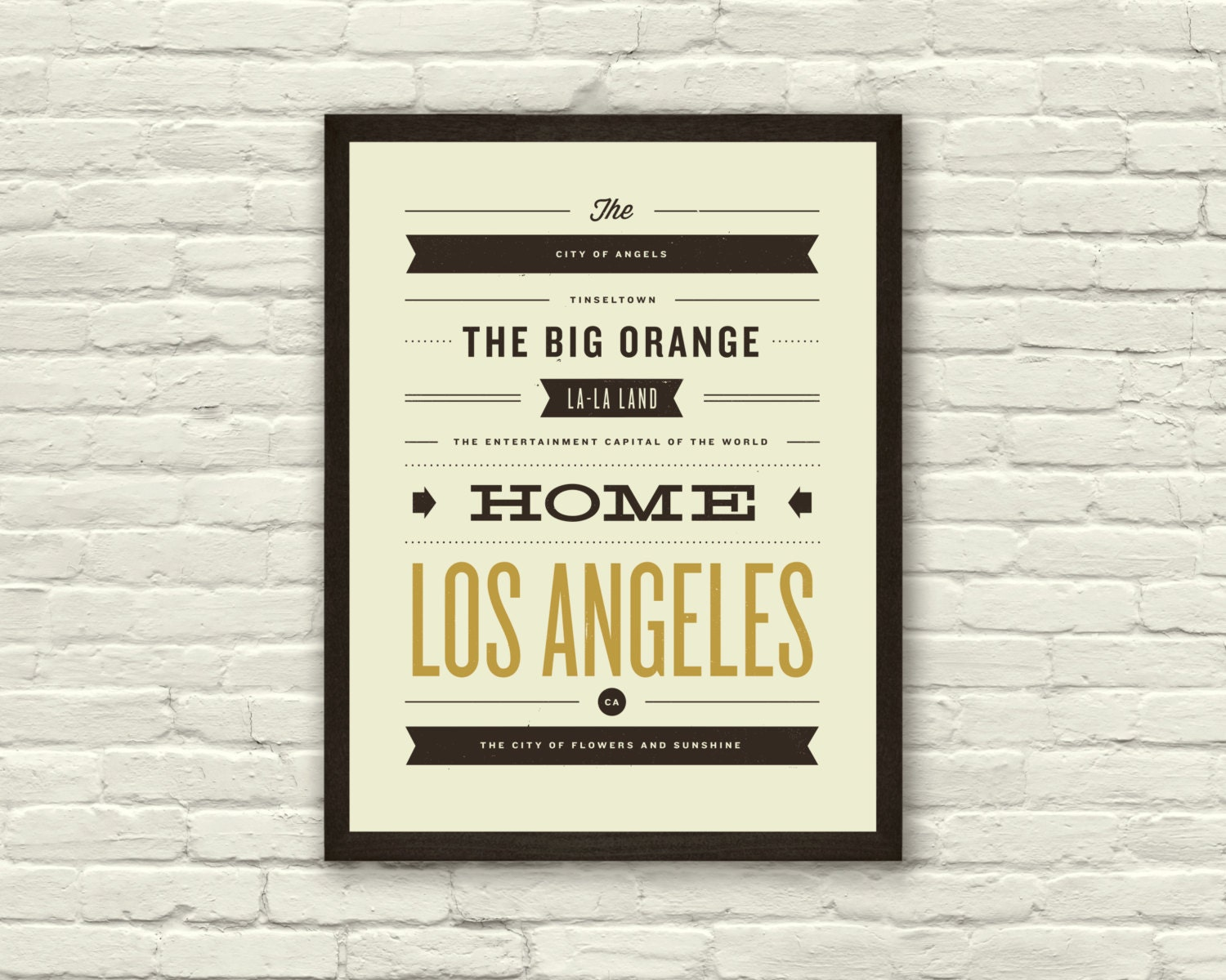 LOS ANGELES City Poster  X Typography Art Print - Los angeles posters vintage