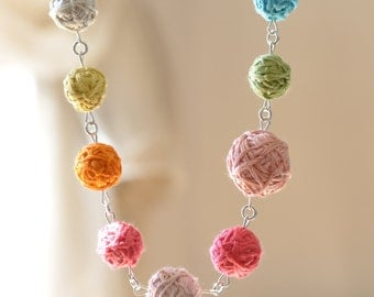 Geometric Bib Necklace - Rainbow Romantic Necklace - Hand Sewn Statement Necklace - Winter Fashion - Bohemian Bridal Jewelry