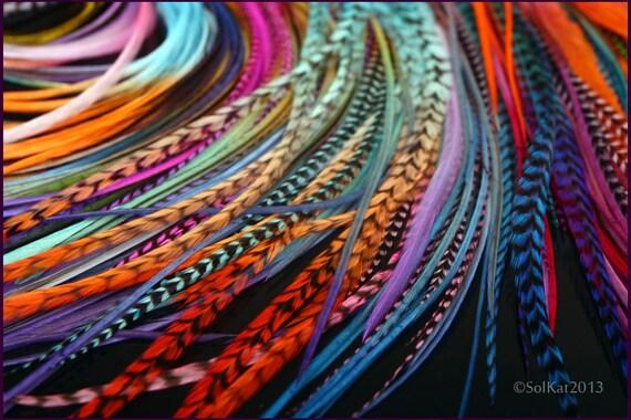 Extensions de cheveux accessoires cheveux plume kit bricolage - Plume dans les cheveux ...