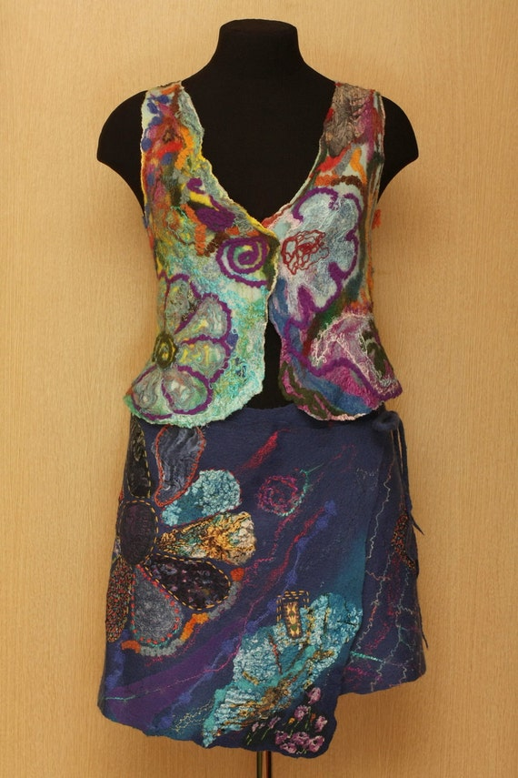Items similar to Imaginarium / Felted Clothing / Vest ...