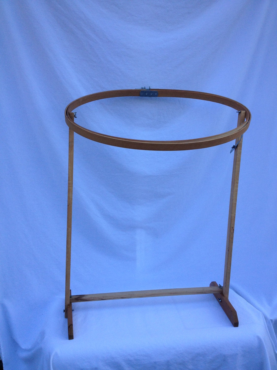 Vintage oval quilting hoop with stand