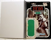Biker Scout Recycled Vintage Star Wars ROTJ Notebook/Journal