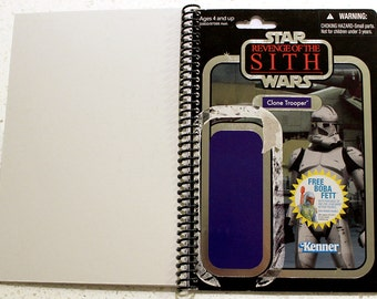 Clone Trooper (foil) Recycled Vintage Style Star Wars ROTS Notebook/Journal