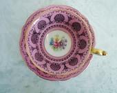 Antique Pink Teacup and Saucer Set, Pink Tea Cup and Saucer Set Beyreuth Bavaria