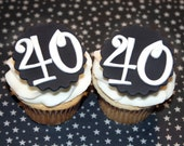 Fondant cupcake toppers 40th Birthday party , Over the Hill fondant