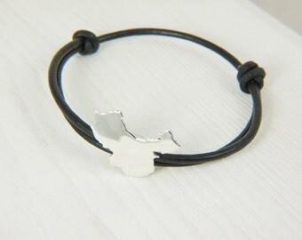 China adoption bracelet Sterling silver bracelet china bracelet map
