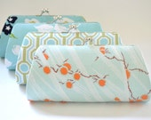 A SET of 6 Bridesmaids Clutch -  Create a Custom Bridesmaid Clutches in your choice of fabrics