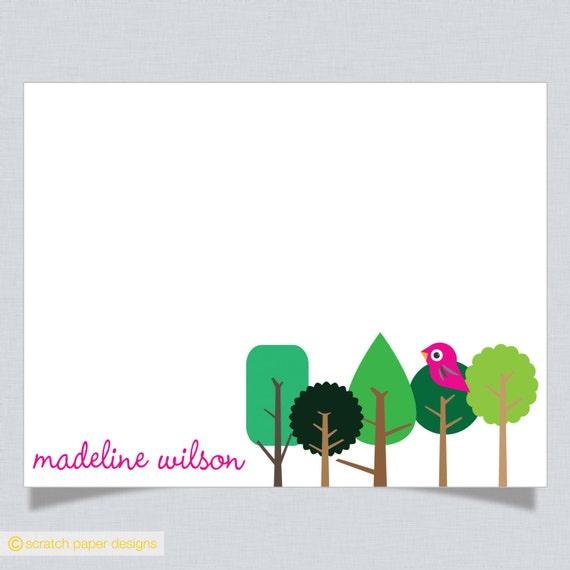 Custom Children's Notecards -- LITTLE BIRDIE