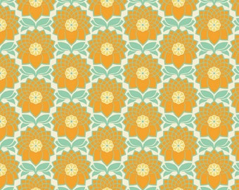 Chrysanthemum in Jade (JD51) - Joel Dewberry Fabric HEIRLOOM for Free Spirit - By the Yard