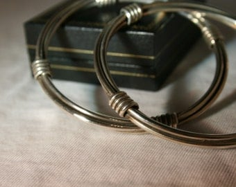 Silver Wrapped Bangles