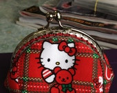 FREE SHIPPING - Handmade Coin Purse Hello Kitty with Bear
