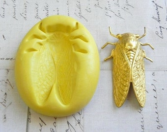 CICADA (Large) - Flexible Silicone Mold - Push Mold, Jewelry Mold, Polymer Clay Mold, Resin Mold, Craft Mold, Food Mold, PMC Mold
