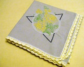 Charming Vintage Embroidered Tablecloth