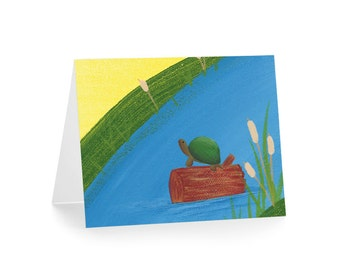 Little Turtle Blank Greeting Card & Envelope