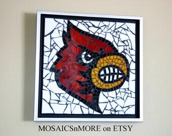 Mosaic Louisville Cardinal Wall Hanging College Basketball UofL Memorabilia