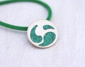 Green Malachite Pendant- Green Necklace- Silver and Malachite Pendant