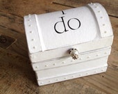 "The ""I do"" Bride & Groom Wedding Ring Holder/Ring Bearer Pillow Box w/Pearl Accents engagement box"