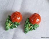 Vintage Tomato Ware Petite Salt & Pepper Shakers Japan