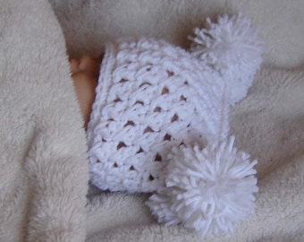 PDF Pom Hat Instant Download Crochet Pattern No106  ALL sizes Infant Baby Toddler Child Adult