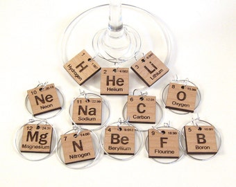Periodic Table of Elements - Wine Glass Charms