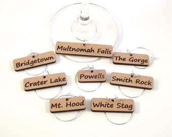 Oregon Landmarks - Wine Glass Charms