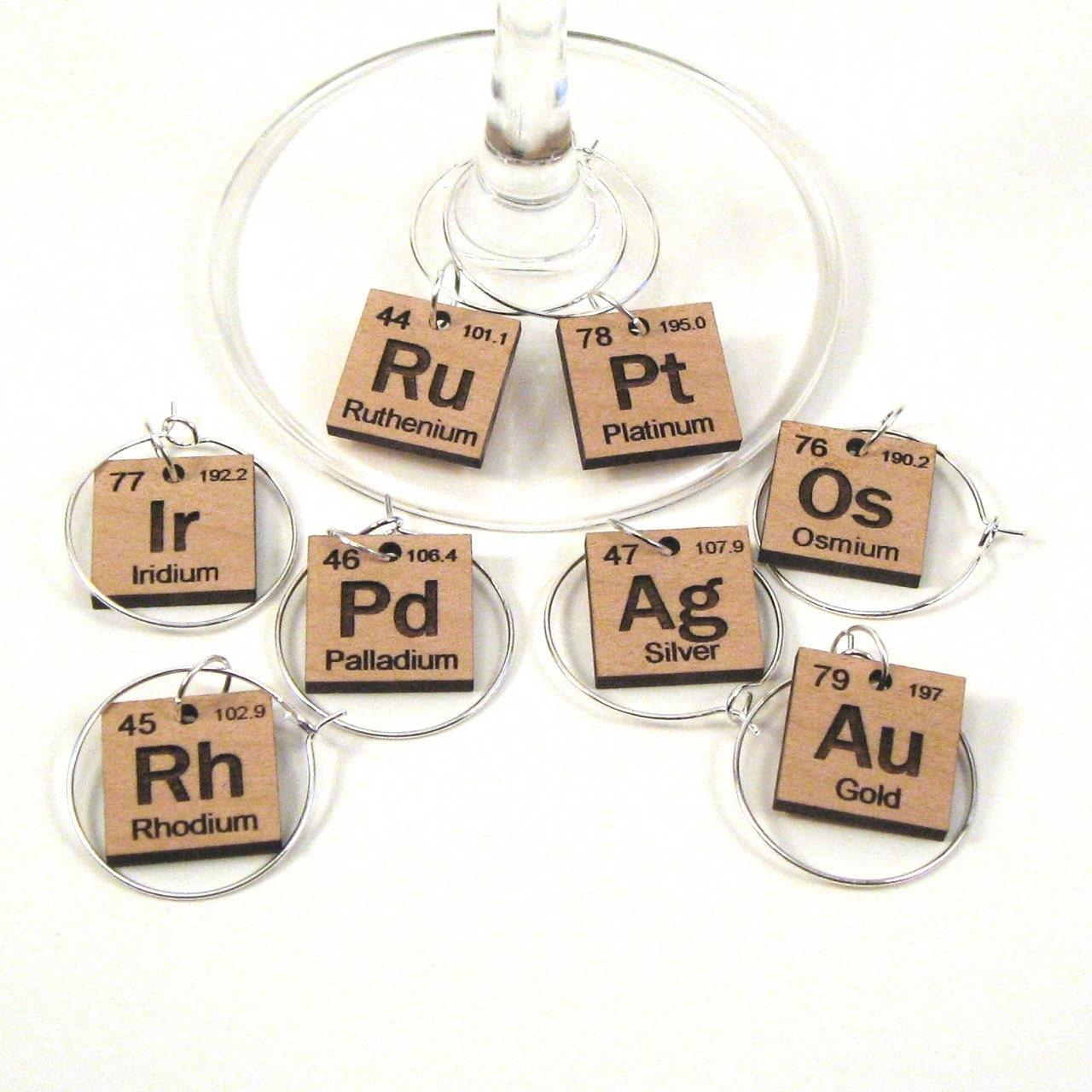 Wine glass charms periodic table precious metals zoom gamestrikefo Image collections