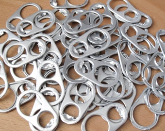 50 Large Soda Can Pop Tabs - Large Aluminum Can Pull Tabs