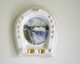 Niagara Falls  Ashtray | Souvenir Horseshoe Falls Prospect Point | Kitsch Mid Century Retro
