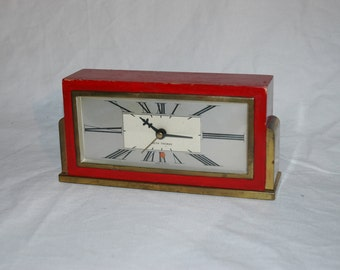 Vintage 1950s - 1960s Art Deco Seth Thomas Electric Clock (Working)