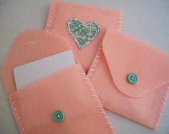 Sweet Pink Felt Mail Set