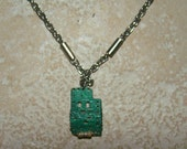 Unique Recycled Circuit Board Aluminum Techie Pendant On Silver Plated Necklace