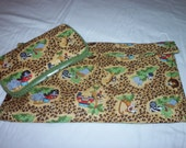 New Safari print changing pad and wipes case