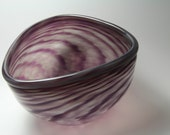Blown Glass Bowl - Purple Gray Blown Glass Bowl - Blown Glass Bowl - Purple Bowl - Handmade Glass