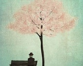 Under the cherry tree - Spring - Art print (3 different sizes)
