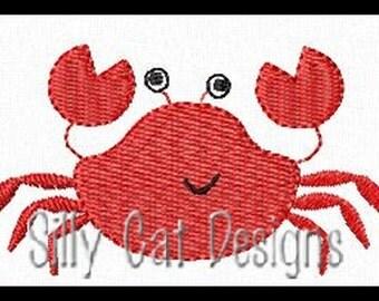 Crab Mini Fill Stitch Embroidery Design