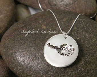 Custom Hand Stamped Sterling Silver AUSTRIA Locket Necklace Perfect for Adopting Mothers