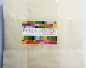 Moda Bella Solids Layer Cake SNOW- (42) 10 inch Squares Quilt Fabric
