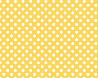 Riley Blake Small Dots Yellow  - 1 yard