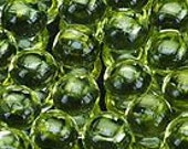 50% OFF LIST PRICE - One - 3mm Round Natural Green Peridot Cabochon