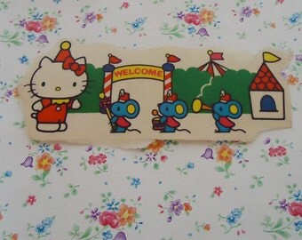 Hello Kitty Circus Sticker.1976