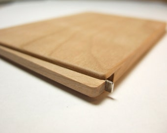 wood business card holder. slim. cherry.