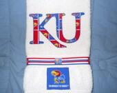 University of Kansas Jayhawks Hand Towel Bathroom, Kitchen, Bar , Grill, Grad Gift