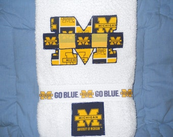 University of Michigan Michigan Wolverines Hand Towel Bathroom, Kitchen, Bar, Grill, Grad Gift
