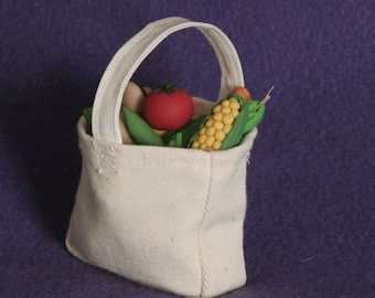 vegetable assortment in bag for American Girl doll