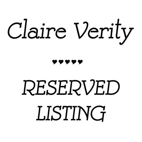 RESERVE LISTING for Deanne