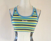 Bright Playful Striped Spalding Workout Sports Bra