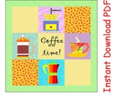 Quilt  Pack: 4 paper pieced coffee appliances block patterns PDF